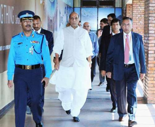 Indian Home Minister Rajnath Singh arrives in Kathmandu, Nepal to attend Sixth Meeting of SAARC Ministers of Interior/Home in Kathmandu