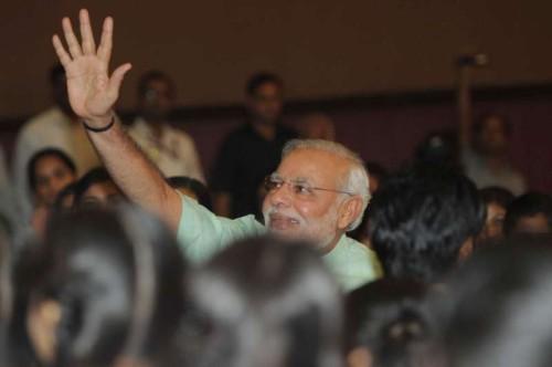 "The Prime Minister, Shri Narendra Modi at the ""Teachers' Day"" function, at Manekshaw Auditorium, in New Delhi"