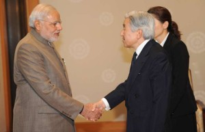 The Emperor of Japan, His Majesty Akihito with the Prime Minister, Shri Narendra Modi, in Tokyo