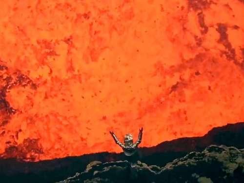 volcanic selfie