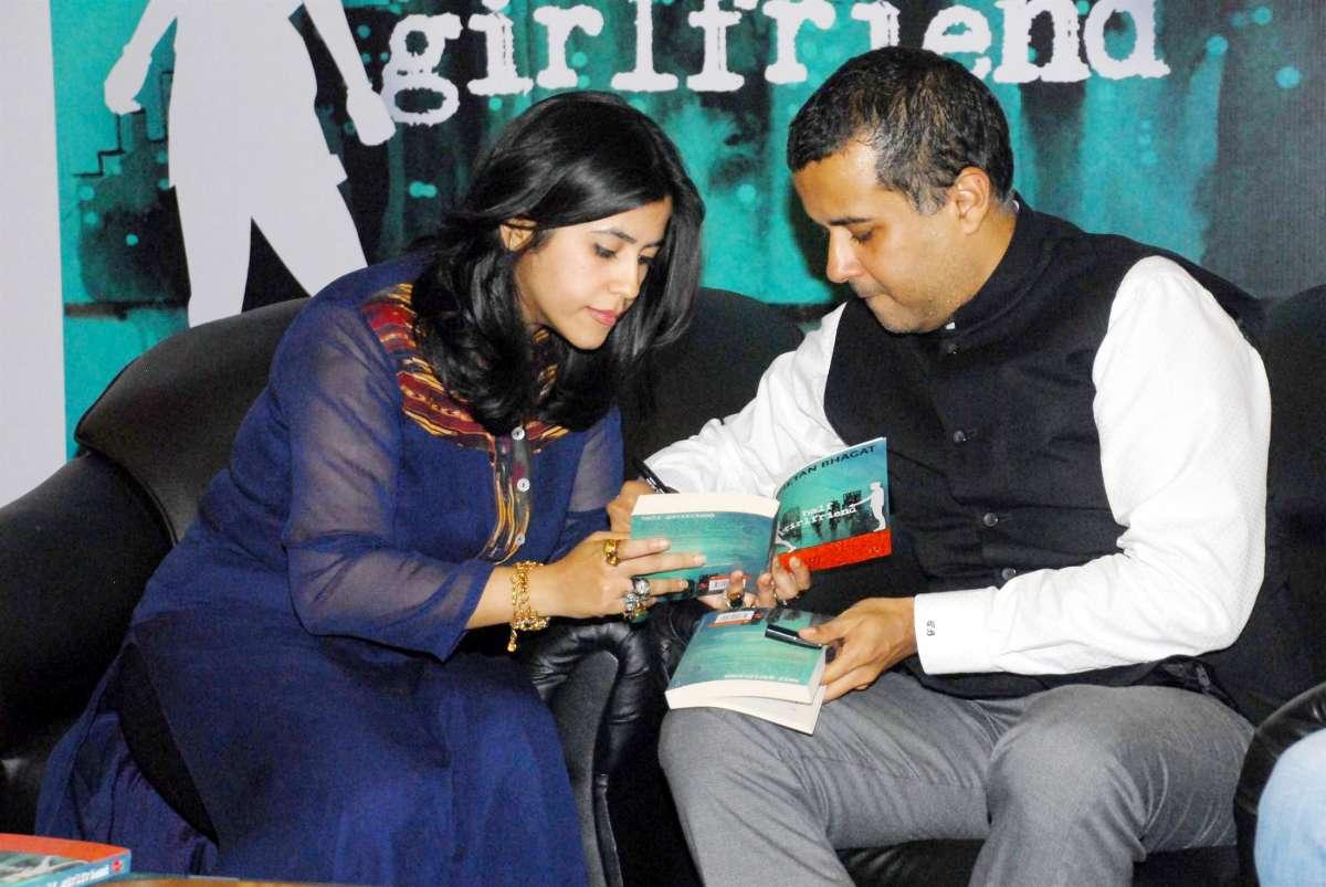 Filmmakers Ekta Kapoor during the launch of author Chetan Bhagat`s new book `Half Girlfriend` in Mumba (File)