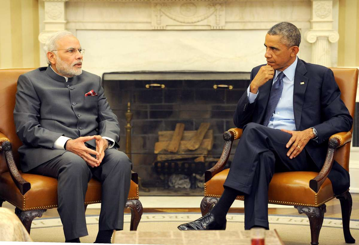 Prime Minister Narendra Modi during a bilateral meeting with US President Barack Obama at the White House, in Washington DC, United States of America, on Sept 30, 2014.
