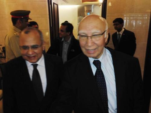 Pakistan Prime Minister Nawaz Sharif's advisor on national security and foreign affairs Sartaj Aziz