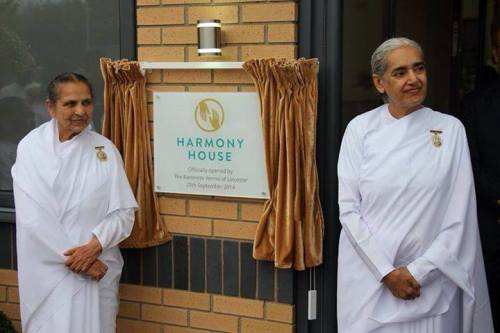 Sudeshdidi and Sister Jayanti during the inauguration of Harmony House in Leicester