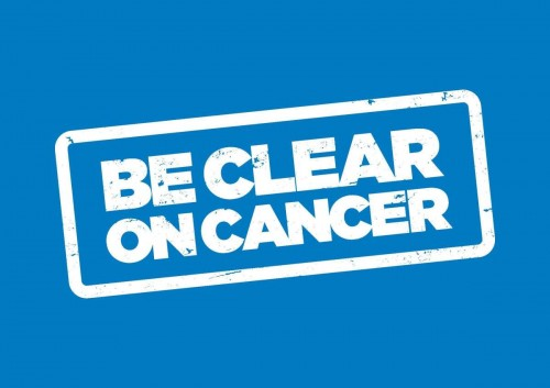 Be Clear on Cancer Campaign poster