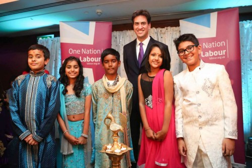 labour leader Ed Miliband MP at the Diwali reception in London