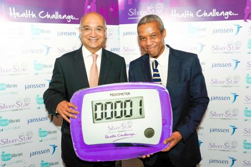 Keith Vaz MP promoting the health awareness check during a recent event in London