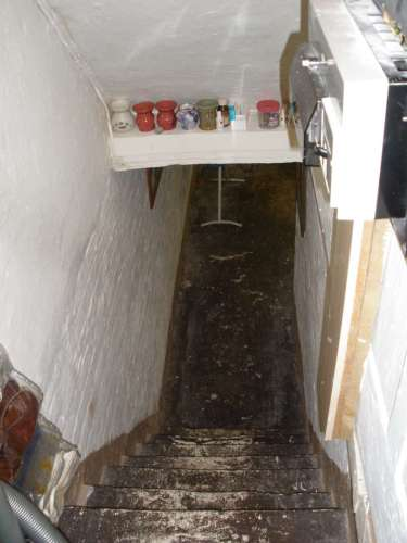 The Cellar where the girl was in captivity