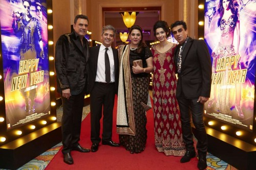 Mumbai: Actor Boman Irani during the World premiere of film Happy New year in Dubai. (Photo: IANS)