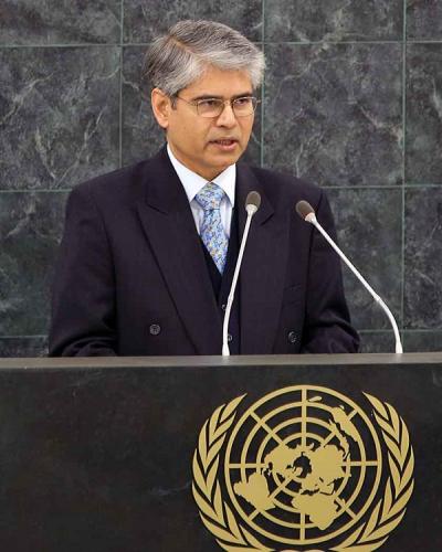 Indian UN ambassador Asok Kumar Mukerji