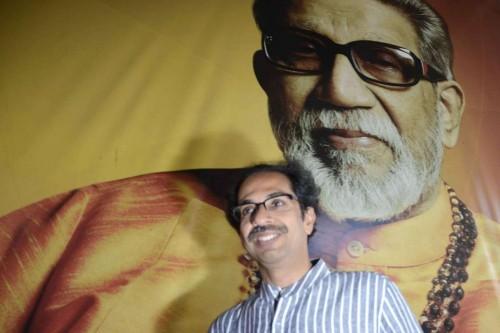 Mumbai: Shiv Sena chief Uddhav Thackeray arrives at Shiv Sena Bhawan in Mumbai.