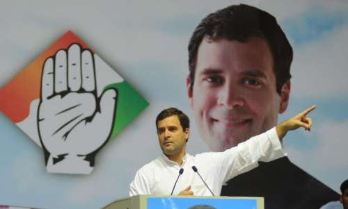 Congress Vice President Rahul Gandhi addresses during a programme organised on 70th birth anniversary of former Prime Minister Rajiv Gandhi at Talkatora Stadium in New Delhi on Aug 20, 2014. (Photo: IANS)