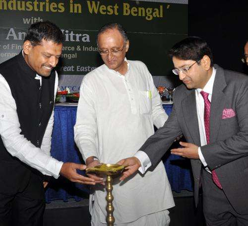 West Bengal Finance, Commerce and Industries Minister Amit Mitra during `Resurgence Industries in West Bengal` a programme organised by MCC Chamber of Commerce in Kolkata