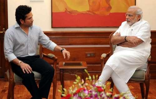 Eminent sports person, Shri Sachin Tendulkar calls on the Prime Minister, Shri Narendra Modi, in New Delhi