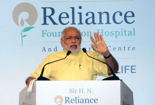 The Prime Minister, Shri Narendra Modi addressing at the ceremony held to rededicate Sir H.N. Reliance Foundation Hospital and Research Centre, in Mumbai on October 25, 2014.