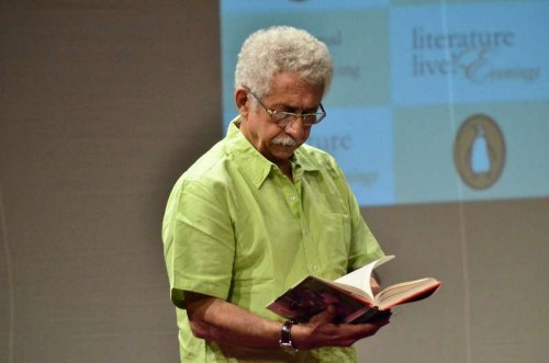 Actor Naseeruddin Shah during the launch of his book 'And Then One Day: A Memoir' in Mumbai on Nov 26, 2014.