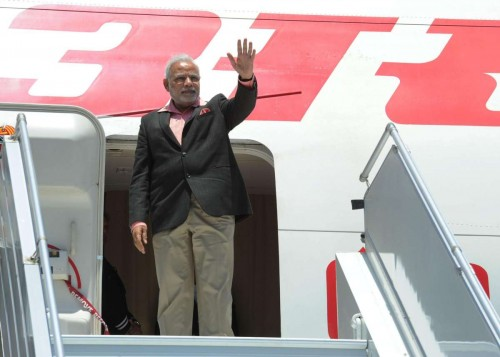 Sydney: Prime Minister, Narendra Modi waves as he arrives in Sydney, Australia on Nov 17, 2014.FILE PHOTO