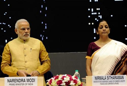 Prime Minister Narendra Modi with  Commerce Minister Nirmala Sitharaman. FILE PHOTO