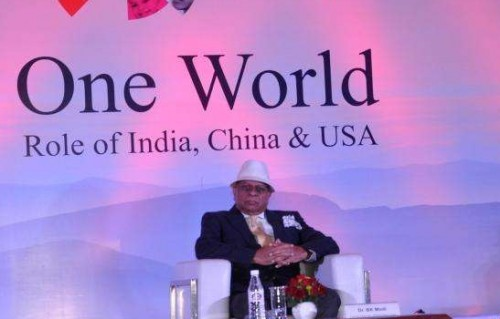 Global Citizen Forum Founder Dr. B K Modi at the Global Conclave organised in New Delhi FILE PHOTO