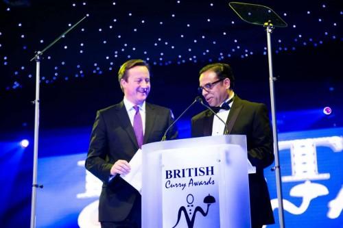 Enam Ali MBE with Prime Minister David Cameron