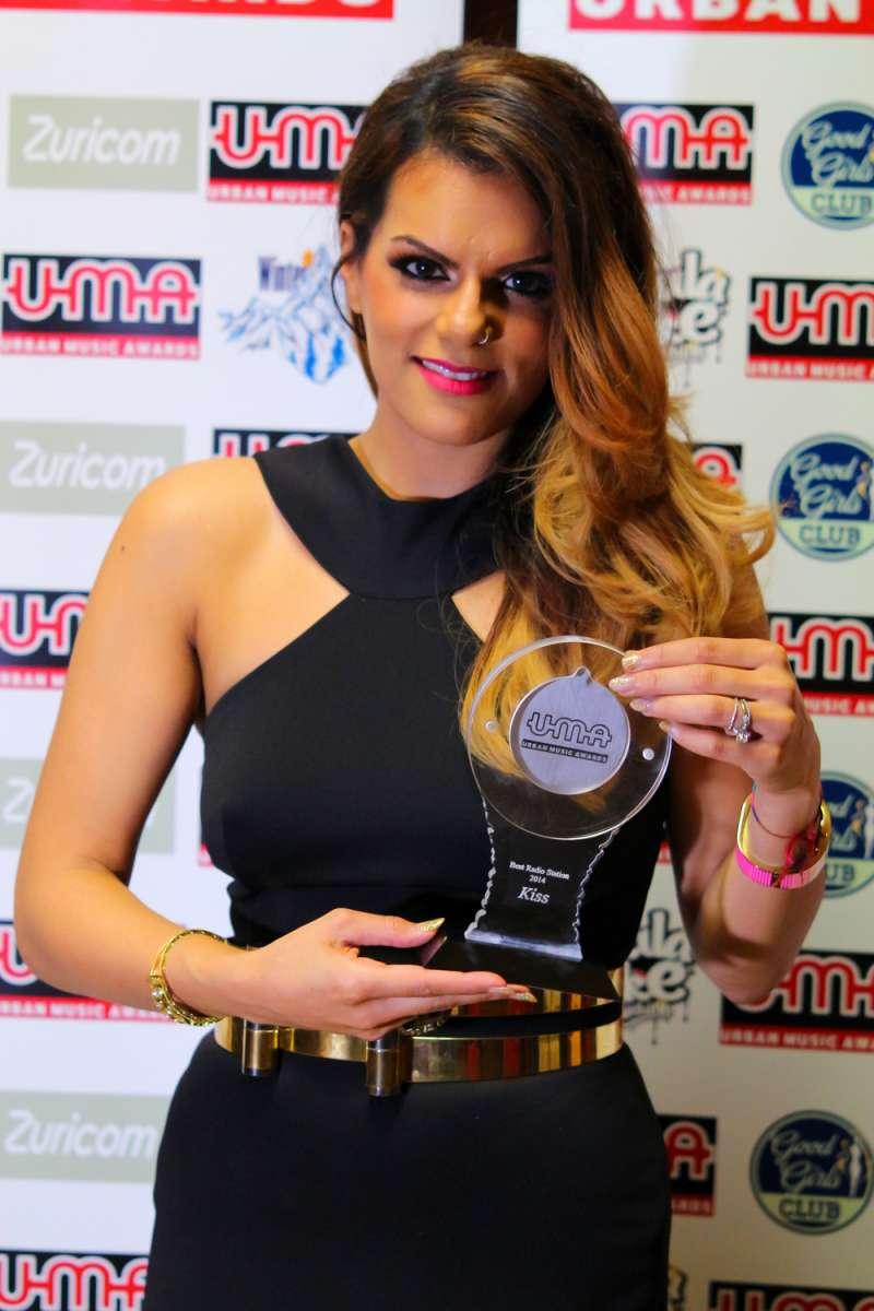DJ Neev after receiving the award