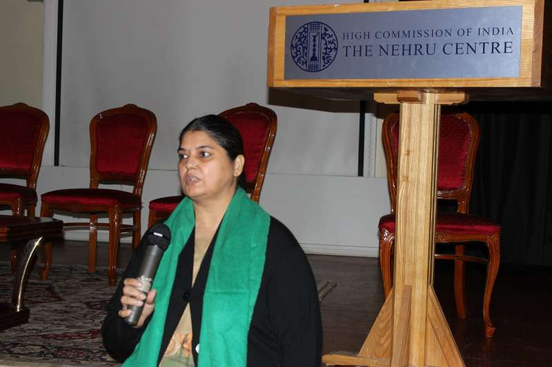 Deputy Director of Nehru Centre Mrs Vibha Mehdiretta