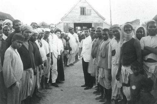 Indian indentured labourers in Mauritius in 1835