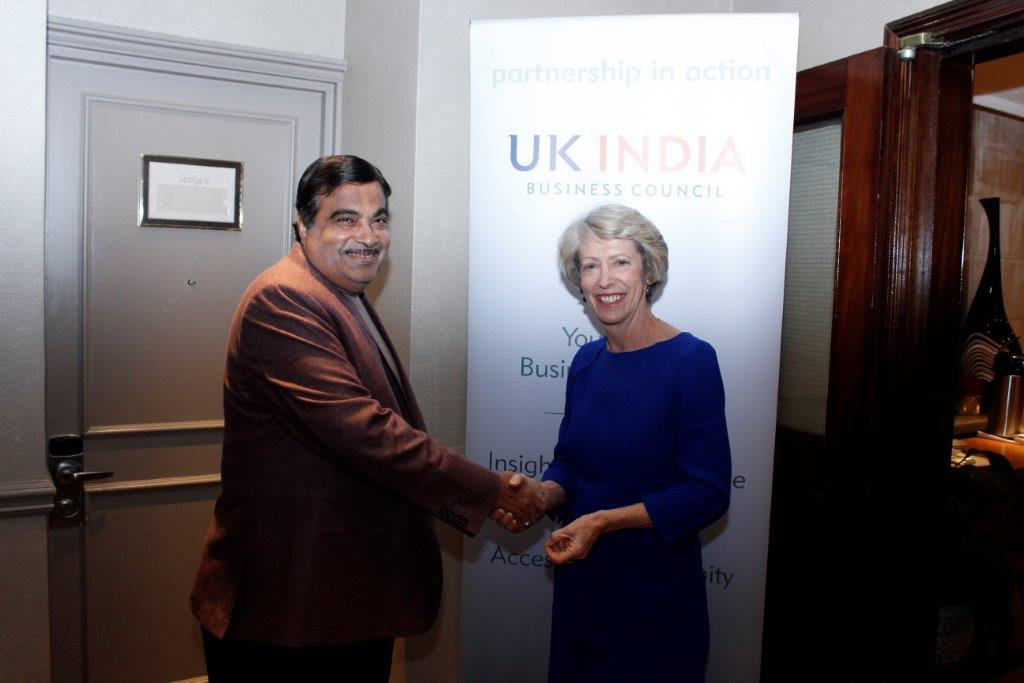 Gadkari with Patricia Hewitt, Chair, UKIBC for the Investors' Dinner