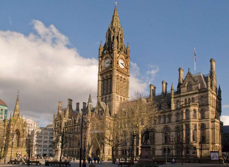 A file photo of Manchester Town Hall