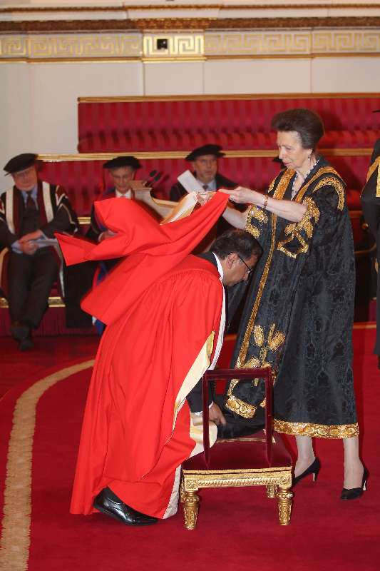 The Ceremony for the Conferment of Honorary Degrees by the University of London, was held at Buckingham Palace, London in the presence of Her Royal Highness The Princess Royal and The Chancellor