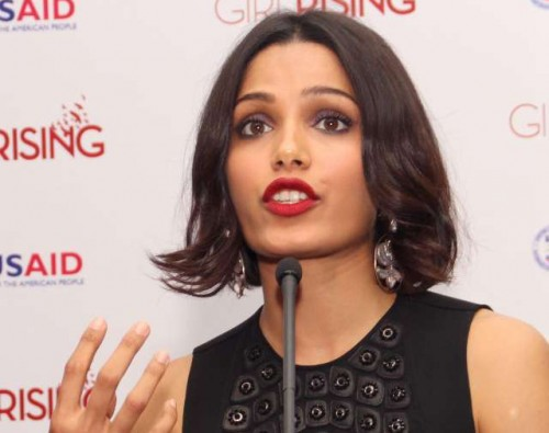Actress and Girl Rising ambassadors Freida Pinto