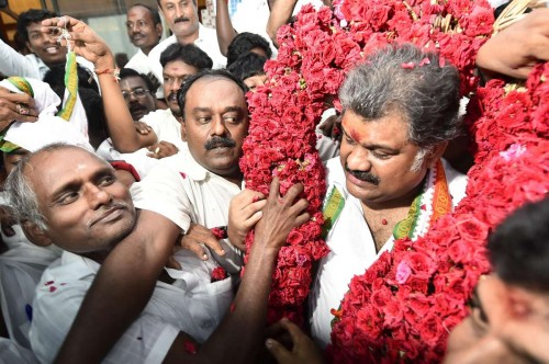 Chennai: Former Union Minister G K Vasan after splitting from Congress in Chennai, on Nov.3, 2014. The politician is set to float a new party.