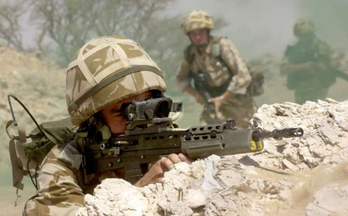 Soldiers on Exercise in Oman in 2001