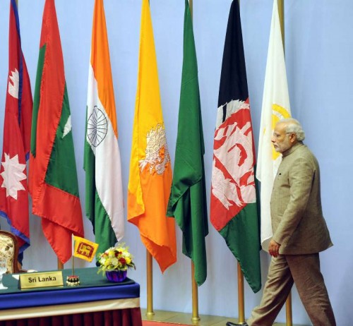 The Prime Minister, Shri Narendra Modi along with the SAARC leaders, at the concluding session of the 18th SAARC Summit, in Kathmandu, Nepal on November 27, 2014.