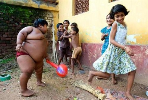 obese indian kid