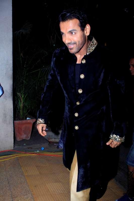 Mumbai: Actor John Abraham spotted shooting for film Welcome Back at Mehboob studios in Mumbai on 30th November, 2014 (Photo: IANS)