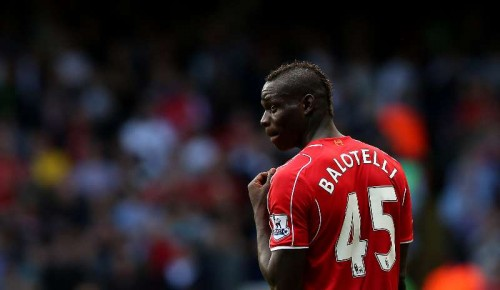 Mario Balotelli of Liverpool is seen during the Barclays Premier League match between Liverpool and Tottenham Hotspur at White Hart Lane in London.
