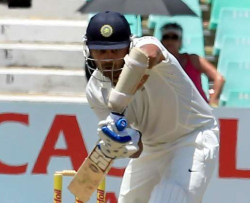 Indian batsman Murali Vijay in action