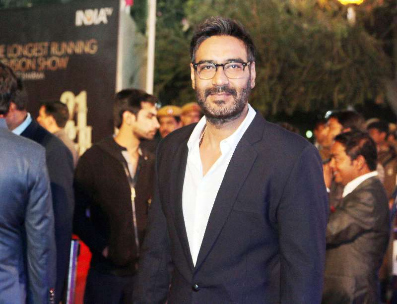 Actor Ajay Devgan during Aap Ki Adalat's 21st anniversary celebrations in New Delhi on Dec 2, 2014. (Photo: IANS)