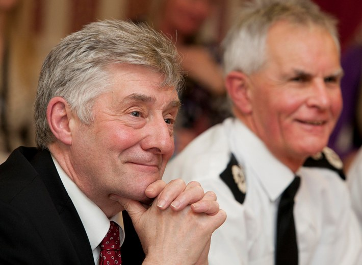 Greater Manchester's Police and Crime Commissioner Tony Lloyd  with Greater Manchester Chief Constable Sir Peter Fahy