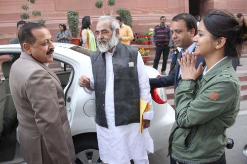 Prime Minister`s Office Personnel, Public Grievances and Pensions Department of Atomic Energy Department of Space Jitendra Singh at the Parliament House in New Delhi, on Dec 9, 2014.