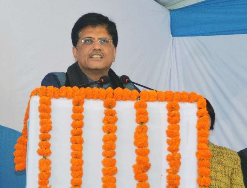 The Minister of State (Independent Charge) for Power, Coal and New and Renewable Energy, Shri Piyush Goyal addressing at the dedication ceremony of the 400KV Substation to the Nation, at Harsh Vihar, in Delhi on December 26, 2014.