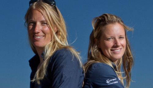 British sailors Hannah Mills and Saskia Clark