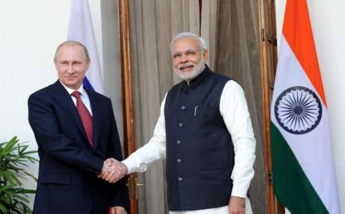 The Prime Minister, Shri Narendra Modi with the President of the Russian Federation, Mr. Vladimir Putin, in New Delhi on December 11, 2014.