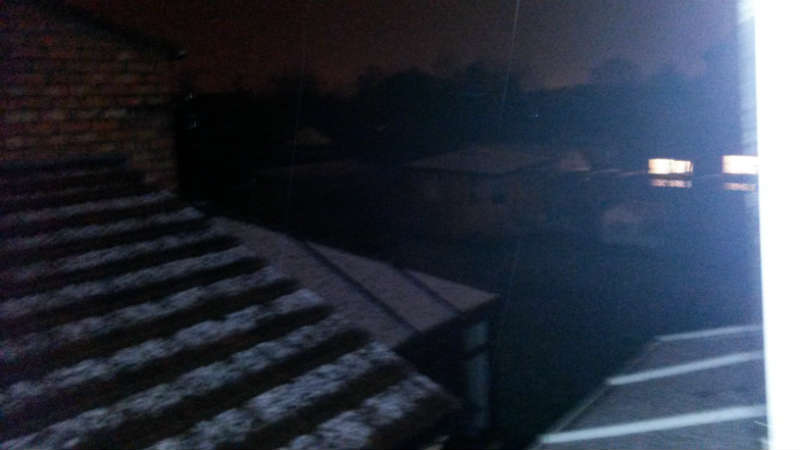 The first snow of the winter swept across Greater Manchester on Friday evening.