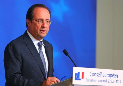 French President Francois Hollande holds a press conference