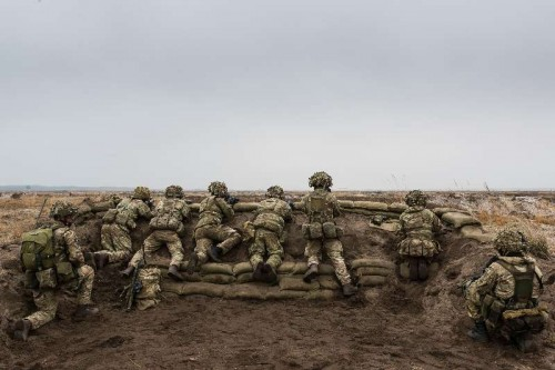 Soldiers Taking Part in Exercise Black Eagle