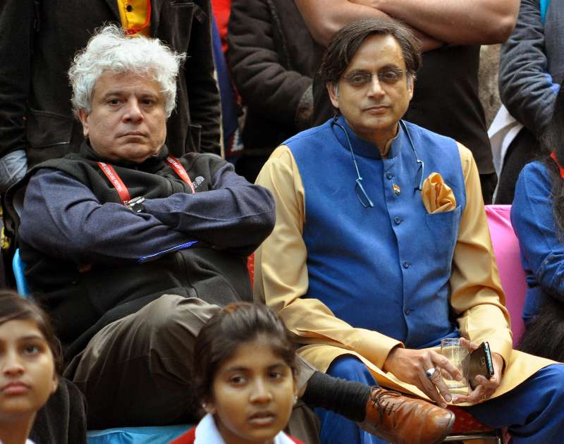 Congress MP from Thiruvananthapuram Shashi Tharoor and author Suhel Seth during the Jaipur Literature Festival in Jaipur (File)