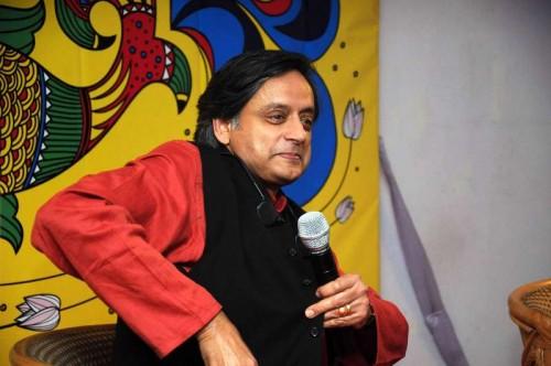 Congress MP  Shashi Tharoor at the launch of his book `India Shastra` during Kolkata Literary Festival 2015 in Kolkata, on Jan 15, 2015.