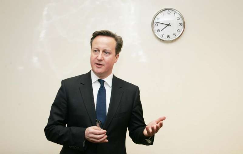British Prime minister David Cameron at the Asian Lite office in Manchester. Photo: Arun Jacob Thomas
